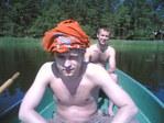24 июня 2006г, на озере, отмечаем Лиго, день 2ой)