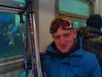 Прошлая зима, в электричке после катания на горных