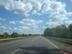 По дороге с облаками (на скорости около 100 км/ч)