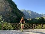 В горах Абхазии)