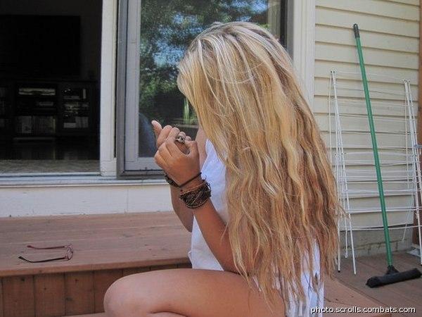 Фотографии девушек со светло-русыми волосами